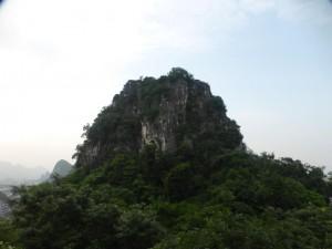 Einer der drei Berge im Park