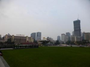 Der Tianfu Square in Chengdu
