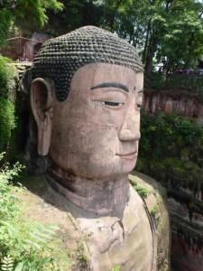 Der Giant Buddha Kopf