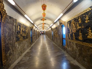 Tunnel im Guandu Tempel
