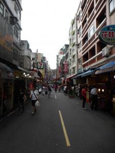Shoppingstraße in Tamsui