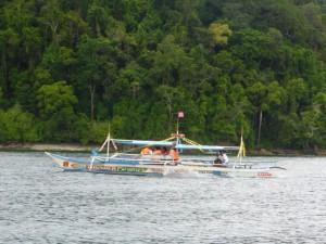 Ein typisches lokales Boot