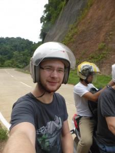 Ich auf dem Motorrad