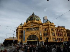 Der Bahnhof in Melbourne