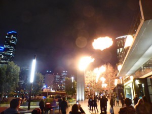 Feuershow am Casino in Melbourne
