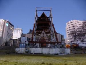 Die überreste der Christchurch Cathedral