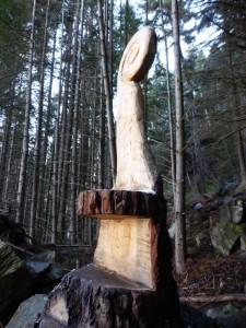 Große Stühle im Wald