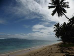 Am Strand in Rarotonga