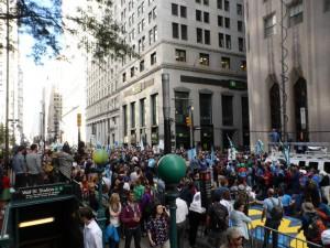 Demo nahe der Wall Street