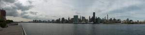Blick auf Manhattan vom East River