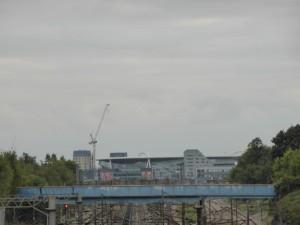 Emirates Stadium aus der Ferne