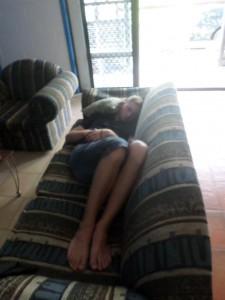 Couch auf den Cooks Islands