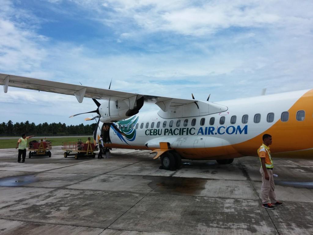 Cebu Pacific ATR auf Siargao (Philippinen)