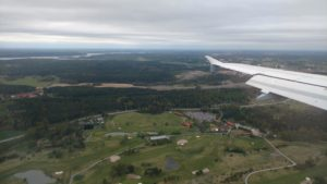 Landeanflug nach Stockholm Arlanda
