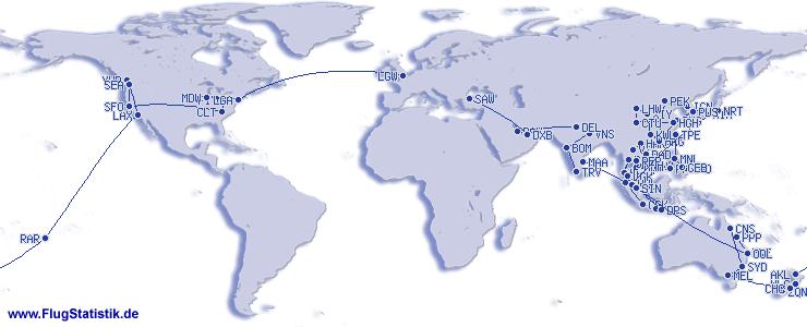 Flüge (ohne Europa)